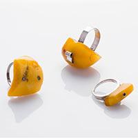 3 Ringe – Silber, Bernstein