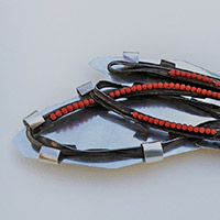 Brooch – Silver, Iron, Coral