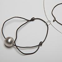 Halsreif und Armband – Silber, Eisen