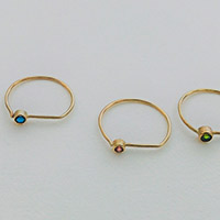 Rings – gold, emerald, sapphire, chromium diopside