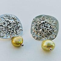 Earrings – silver, freshwater pearls