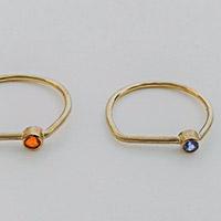 Rings – gold, fire opal, tanzanite, amethyst