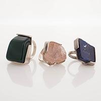 Ringe – Silber, Peridot, Rosenquarz, Lapislazuli