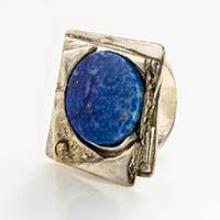 Ring – Silber, Gold, Lapislazuli