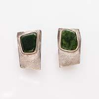 Ohrringe – Silber, Jade