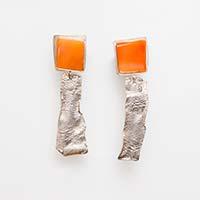 Ohrringe – Silber, Achat